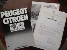 1979 Peugeot Citroen Diesel and Gasoline Engines Catalog Brochure Lot Vintage
