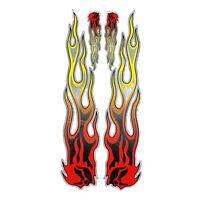 Rot Gelb Flamme Feuer Stil Abziehbilder Aufkleber Cover Streifen KöRper T8H4