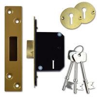 Willenhall Locks M8 5 Lever Mortice Door Deadlock 50mm Brass Key Alike 4836