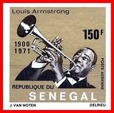SENEGAL 1971 ARMSTRONG imperf. SC#C106 MNH CV$35.00 MUSIC, BLACK HERITAGE (E-B5)