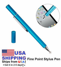 Fine Point Touch Drawing Stylus Pen Capacitive Touch Screen Round Thin Tip-Blue