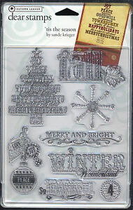 45% OFF! AUTUMN LEAVES 'TIS THE SEASON CLEAR STAMPS BNEW IN PACK SRP US$9.99