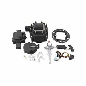 Summit Racing HEI Distributor Upgrade Kit Coil Cap Rotor Module GM Black Kit