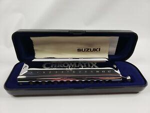 Suzuki SCX56 Chromatix SCX 56 Chromatic Harmonica C Round Mouthpiece