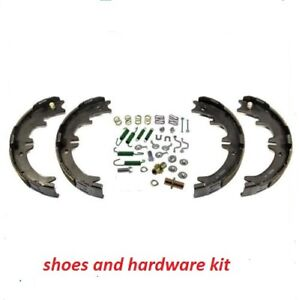 Rear Emergency Parking Brake Shoe Set w/ Hardware Kit for Dodge Chevy pick ups