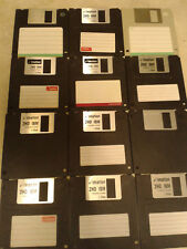 """12 Assorted 3.5"""" floppy disks 1.44MB Used formatted clean"""