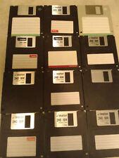 """Assortiment de 12 3.5"""" disquettes 1.44 Mo utilisé formaté Clean"""