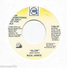 RICK JAMES * 45 * Glow * 1985 * DJ PROMO * USA * MOTOWN * Near MINT Vinyl Press