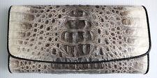 VINTAGE REAL GENUINE CROCODILE alligator SKIN LEATHER LONG CLUTCH WALLET NEW