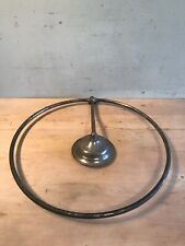 "Antique 7"" Nickel Plated Shower Head W/Curtain Hoop Rack"