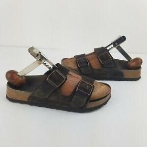 Birkenstock women's Betula Arizona Sandal Size 5.5 Brown Suede Flat shoes