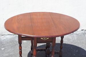 English Walnut Jacobean Drop Leaf Table 19th Century