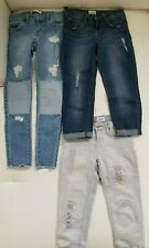 (3) Girl's Hudson Capris Jeans and Levis Jeans Size 8/10