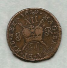 More details for 1689 ireland gunmoney shilling in good fine to near very fine condition.