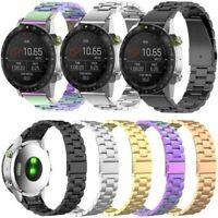 22mm Edelstahl Armband Uhrenarmband für Garmin Forerunner 945 935/Fenix 5/MARQ