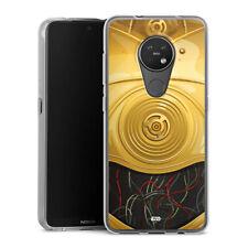 Nokia 7.2 silicona transparente-c3po closeup-Star Wars