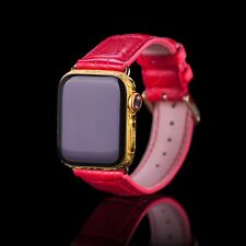 Custom Apple Watch 5 40mm GPS+LTE 24k Gold plated, 16 Diamonds, Hand Engraving