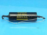SPRAGUE BLACK BEAUTY .015 UF 3000 V VOLT CAPACITOR TEKTRONIX HIGH VOLTAGE CAP