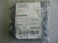 "500 Pack) Burndy YF1612ID Single Insulated #16 AWG Wire Ferrules 0.47"" Black"