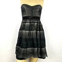 BCBG MAX AZRIA Strapless Prom evening Cocktail Party Black Dress women's SMALL