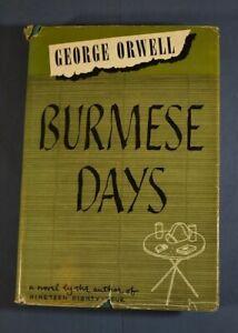 Burmese Days George Orwell Harcourt Brace 1950 Edition Hardcover in Jacket