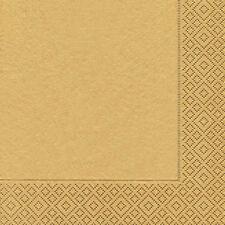 Servietten - Uni gold - Weihnachten - 20 Stück
