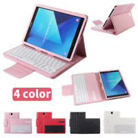 Slim Leather Case Cover with Wireless Keyboard for Samsung Galaxy Tab A tablet