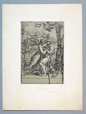 """Lithographie de C. BELLANGER d'après PRUD'HON, """"Dahnis et Chloé"""","""