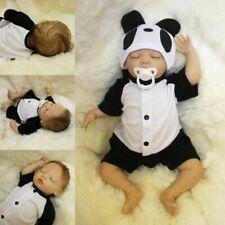 45CM reborn Baby Panda Puppe 55cm Lebensecht Handgefertigt Weich Silikon-Vinyl