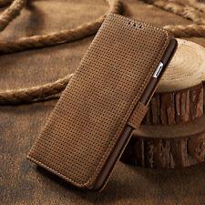 Original Funda Cartera de piel Tarjeta para Samsung iPhone 6 7 Plus Sony Huawei