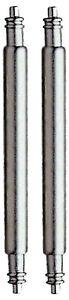 2 Eichmüller Federstege 12 bis 40mm Federstifte Uhrenstifte 1,8mm Durchmesser