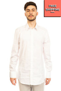 PATRIZIA PEPE Shirt Size 54 / 2XL White Long Sleeve Button Front Regular