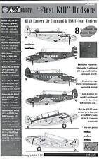 Aviaeology Decals 1/48 FIRST KILL HUDSONS RCAF & USN U-Boat Hunters