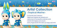 Sonny Angel Artist Collection Series 6. Tropical Marine - Rabbit & Elephant Set