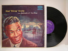 Nat King Cole - Sings Ballads Of The Day, Capitol (Purple Label) C-80073 Ex LP