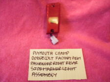 PLYMOUTH CHAMP DODGE COLT RIGHT REAR COMPLETE SIDE MARKER LIGHT FREE SHIPPING