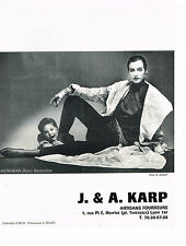 PUBLICITE ADVERTISING 044   1986   J.& A  KARP  boutique fourrure