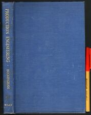 1942 PRODUCTION ENGINEERING 268pg Hardcover VGC+ Earle Buckingham.