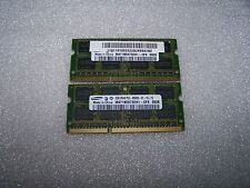 4GB SAMSUNG 1066 Mhz DDR3 PC3-8500S NOTEBOOK memoria (2x 2Gb Set)