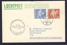 46717) KLM FF Amsterdam - Casablanca 5.11.60, Karte ab Schweiz R!