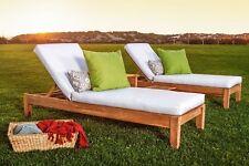 Atnas 100% Teak Armless Chaise Lounger Outdoor Garden Patio Steamer Sun New