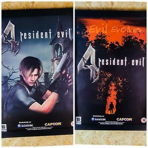 Resident Evil 4 Promo Poster Double Sided A2 Size 2005 100% Original MINT GC