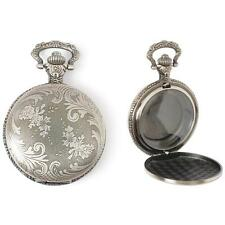 METAL EMBELLISHMENTS / CHARMS - Antique SILVER Pocket Watch Locket - STEAMPUNK