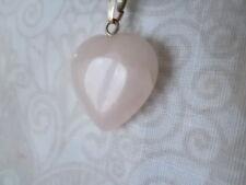 Kette 45 - 50 cm & Rosenquarz Herz rosa natürlich Edel Rosenquarzkette Herzkette