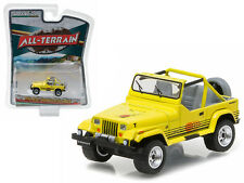 1990 Jeep Wrangler Islander Yellow All Terrain 1:64 Diecast Model - 35050C *