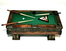 Dollhouse Miniature Pool Table 1:12 Artist Made