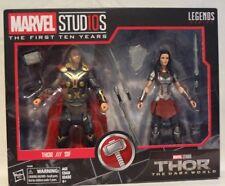 Marvel Legends THOR and SIF Marvel Studios 1st 10 Years Dark World SEALED NIB