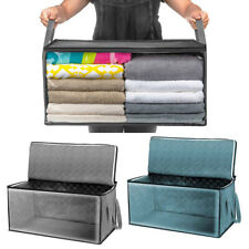 Large Foldable Storage Clothes Quilt Bag Blanket Sweater Organizer Box Portable