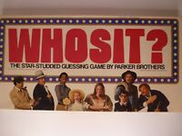 Vintage 1976 Whosit? Guessing Board Game Parker Bros - Missing 2 Guessing Chips