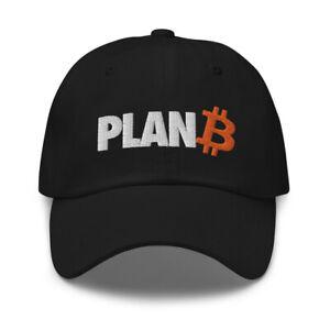 Bitcoin Plan B Adjustable Baseball Cap BTC Crypto Trader Gift Embroidery Dad Hat